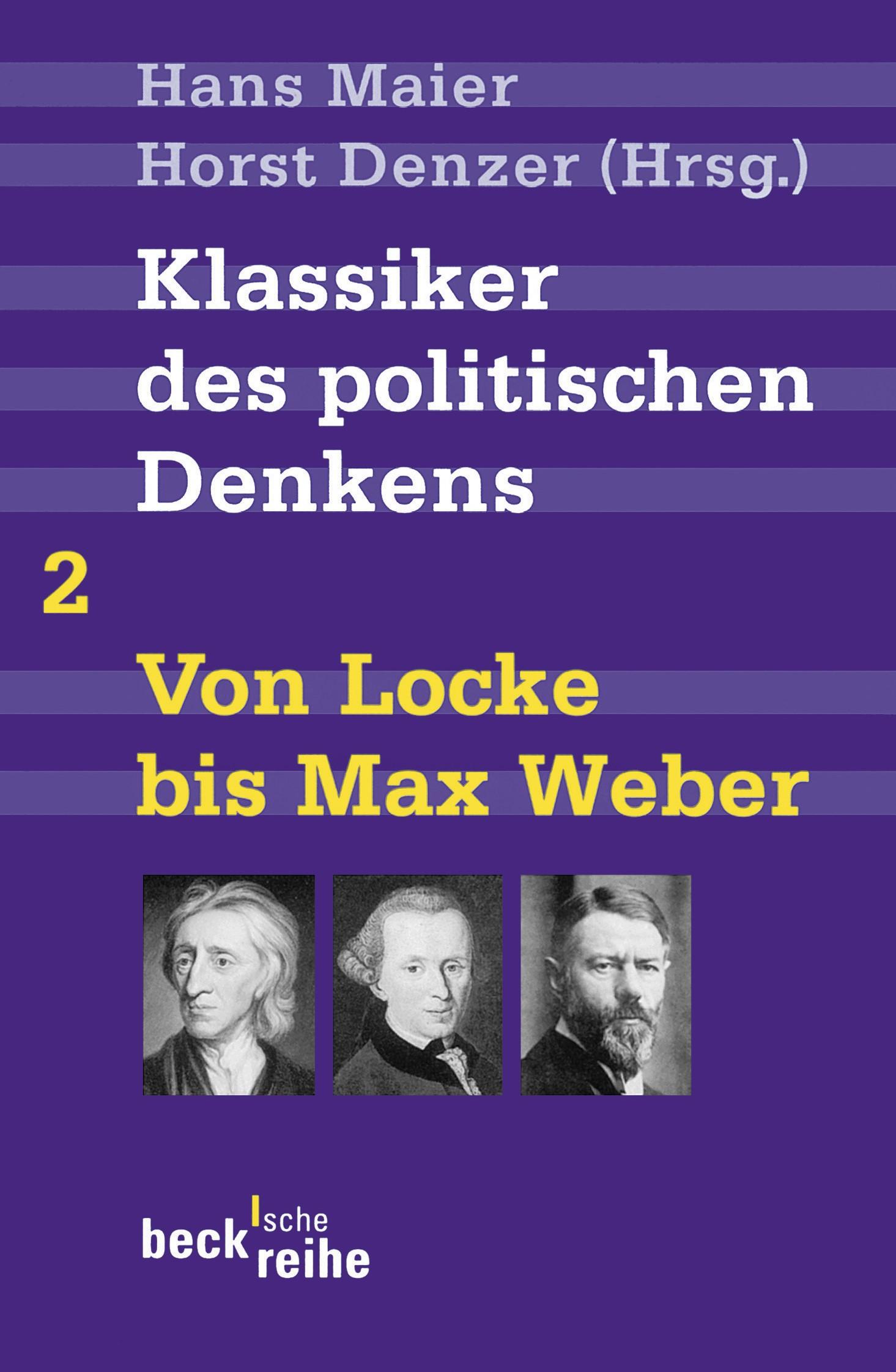 Cover des Buches 'Klassiker des politischen Denkens Band II: Von John Locke bis Max Weber'