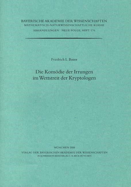 Cover des Buches 'Die Komödie der Irrungen im Wettstreit der Kryptologen'