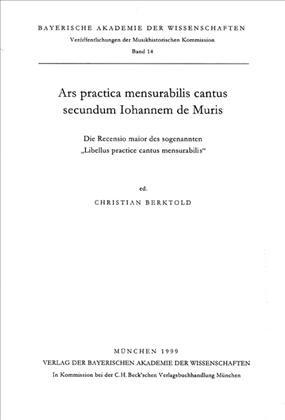 Cover des Buches 'Ars practica mensurabilis cantus secundum Iohannem de Muris'