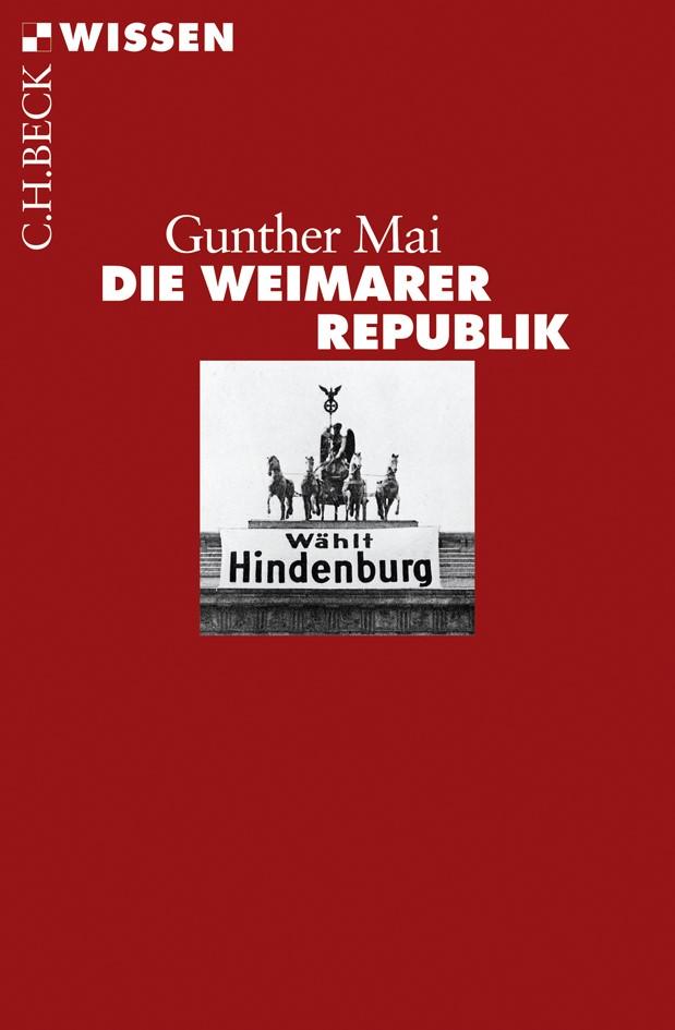 Cover des Buches 'Die Weimarer Republik'