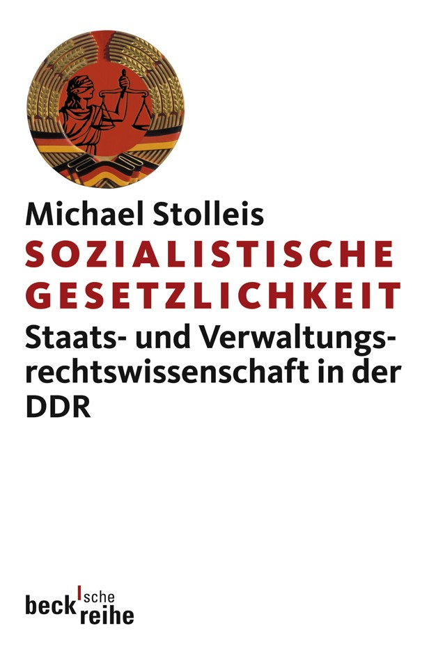 Cover des Buches 'Sozialistische Gesetzlichkeit'