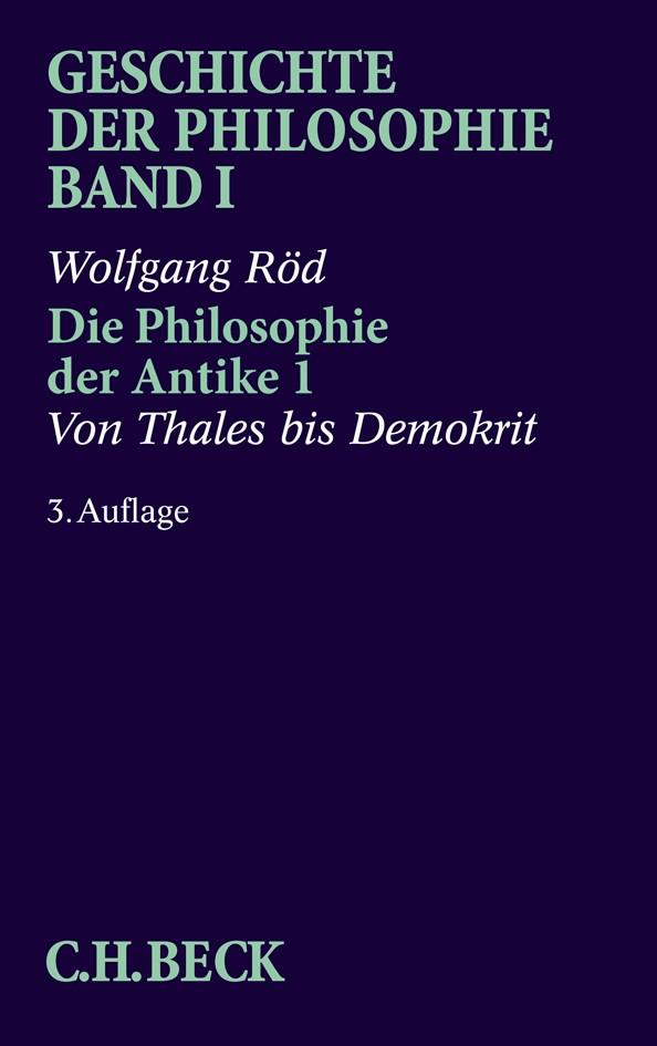 Cover des Buches 'Geschichte der Philosophie  Bd. 1: Die Philosophie der Antike 1'