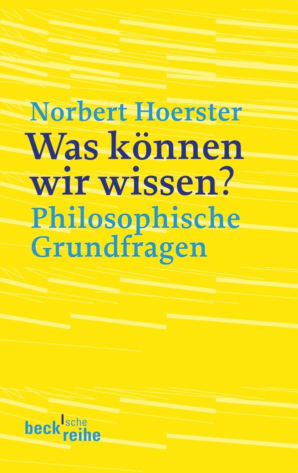 Cover des Buches 'Was können wir wissen?'