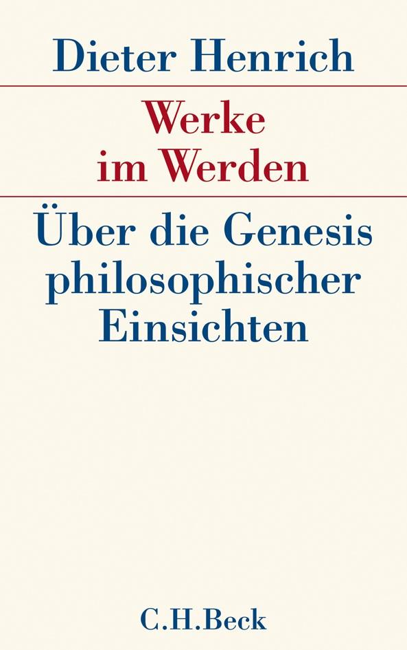 Cover des Buches 'Werke im Werden'