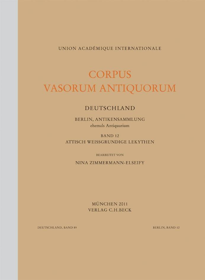 Cover des Buches 'Corpus Vasorum Antiquorum Deutschland Bd. 89:  Berlin, Antikensammlung Band 12'