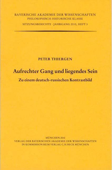 Cover des Buches 'Aufrechter Gang und liegendes Sein'
