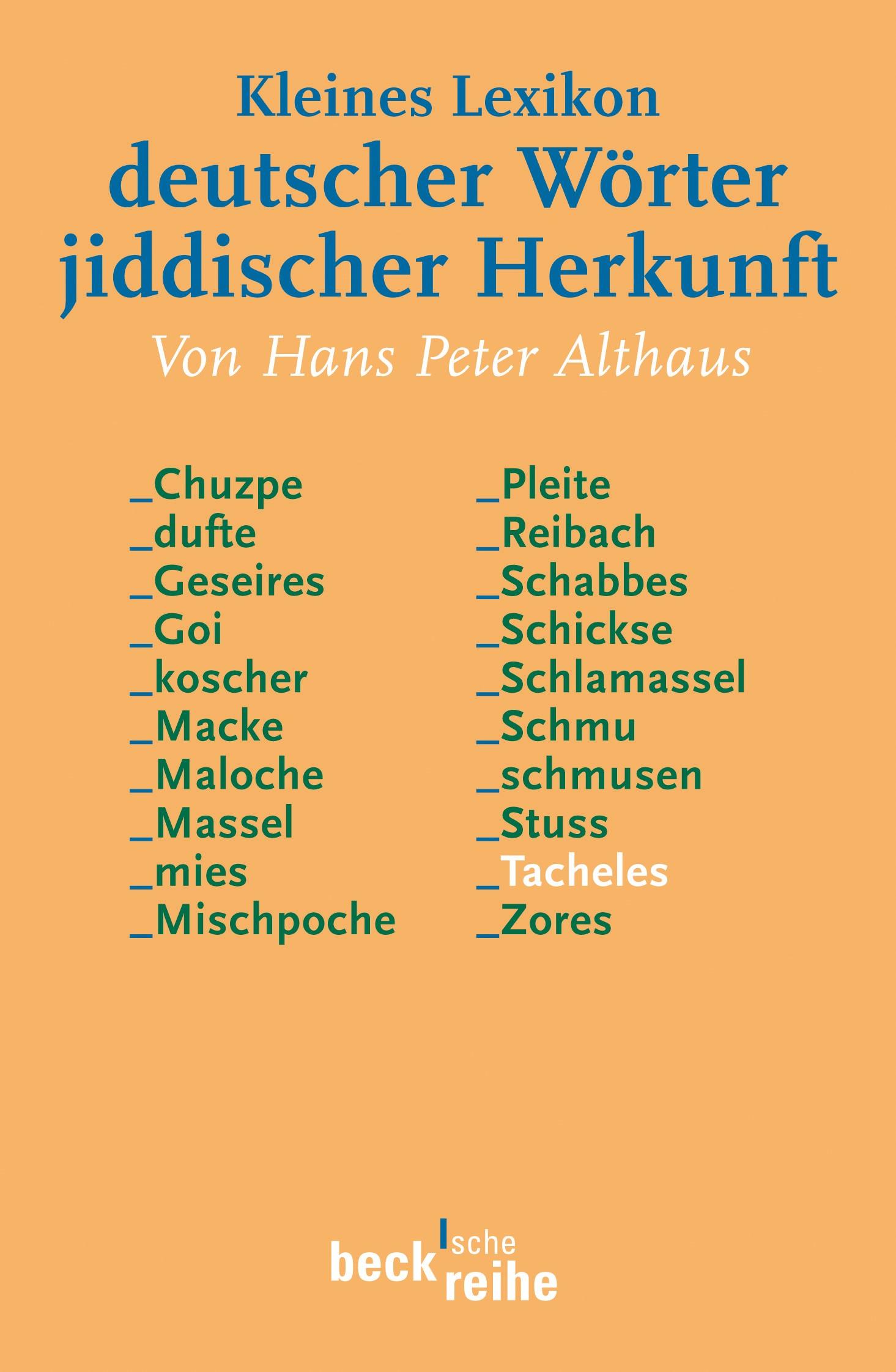 Cover des Buches 'Kleines Lexikon deutscher Wörter jiddischer Herkunft'