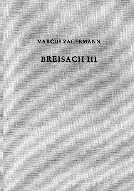 Cover des Buches 'Der Münsterberg in Breisach III'
