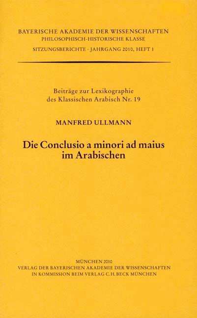 Cover des Buches 'Die Conclusio a minori ad maius im Arabischen'