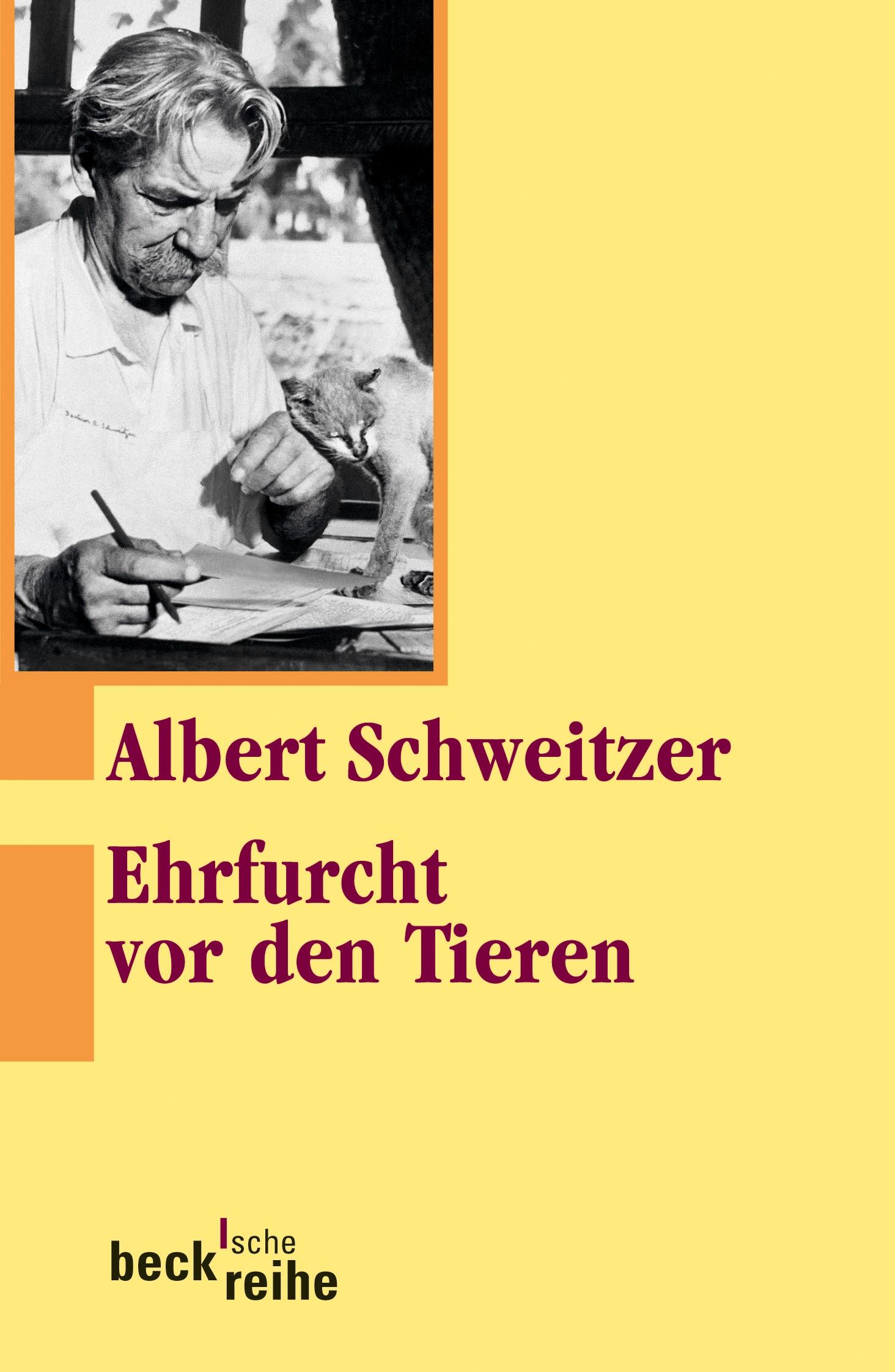 Cover des Buches 'Ehrfurcht vor den Tieren'