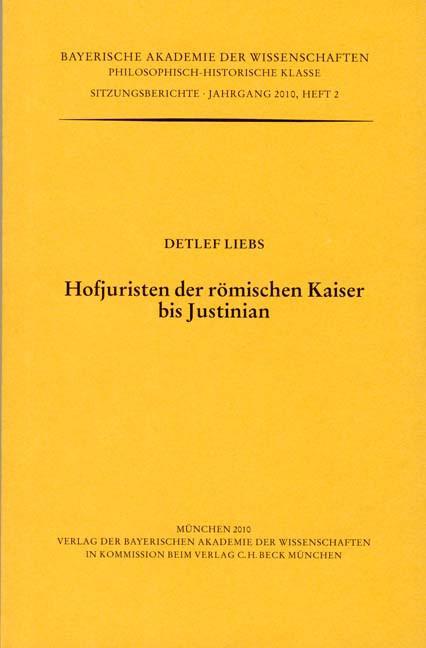Cover des Buches 'Hofjuristen der römischen Kaiser bis Justinian'