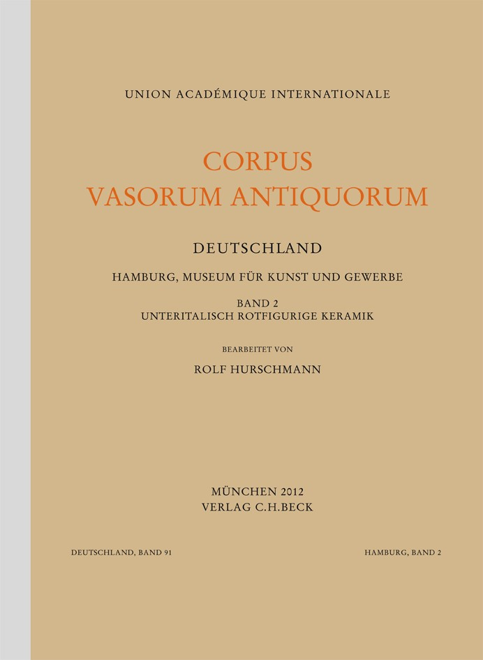 Cover des Buches 'Corpus Vasorum Antiquorum Deutschland Bd. 91:  Hamburg Band 2'