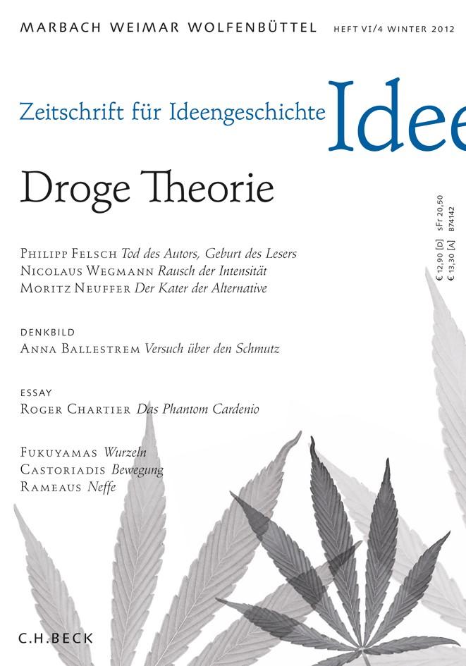 Cover des Buches 'Zeitschrift für Ideengeschichte Heft VI/4 Winter 2012'