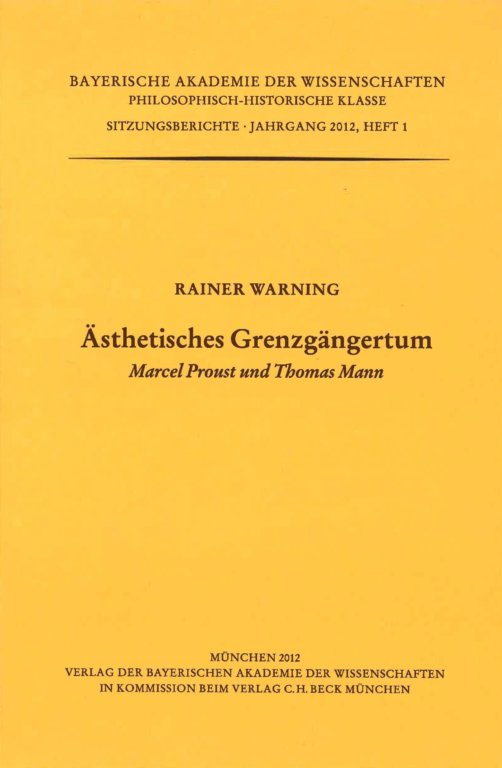 Cover des Buches 'Ästhetisches Grenzgängertum'