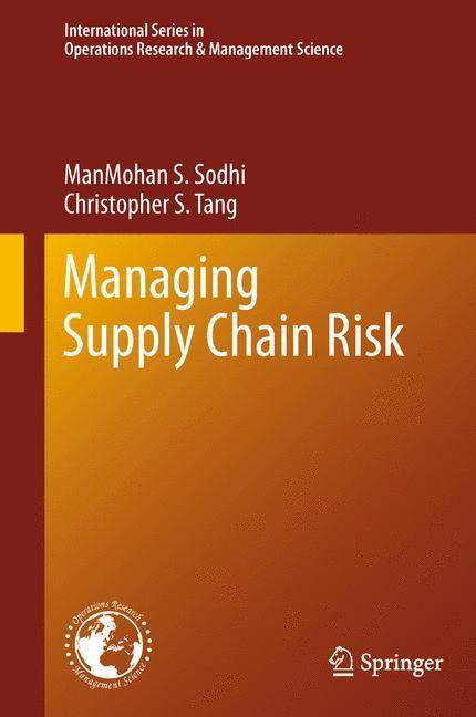 Abbildung von Sodhi / Tang | Managing Supply Chain Risk | 2012