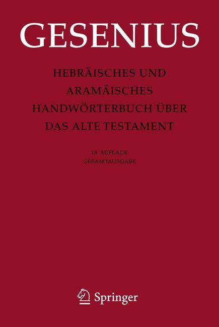 Abbildung von Gesenius / Donner   Hebräisches und Aramäisches Handwörterbuch über das Alte Testament   2013