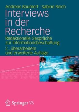 Abbildung von Baumert / Reich   Interviews in der Recherche   2012   Redaktionelle Gespräche zur In...