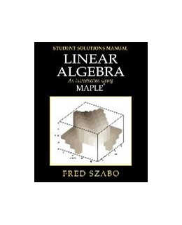 Abbildung von Szabo | Linear Algebra with Maple, Lab Manual | 2001