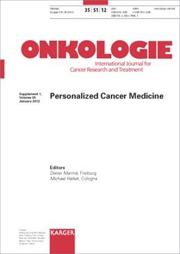 Abbildung von Marmé / Hallek | Personalized Cancer Medicine | 2012 | Supplement Issue: Onkologie 20...