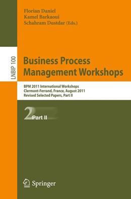 Abbildung von Daniel / Barkaoui / Dustdar | Business Process Management Workshops | 2012