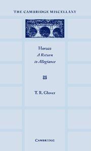 Abbildung von Glover | Horace: A Return to Allegiance | 2012