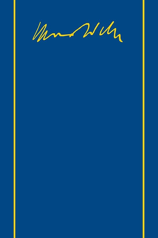 Abbildung von Mommsen / Weber | Max Weber-Gesamtausgabe | 1989