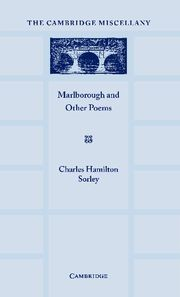 Abbildung von Sorley | Marlborough and Other Poems | 2012