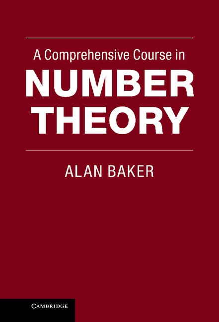 Abbildung von Baker   A Comprehensive Course in Number Theory   2012