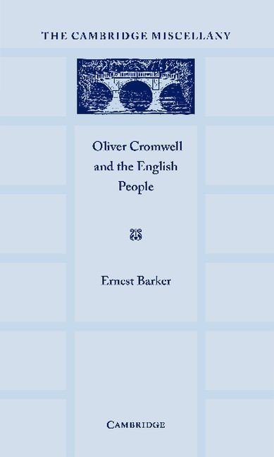 Abbildung von Barker   Oliver Cromwell and the English People   2012