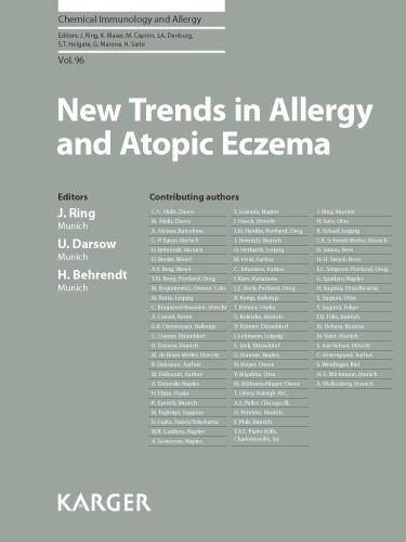 Abbildung von Ring / Darsow / Behrendt | New Trends in Allergy and Atopic Eczema | 2012