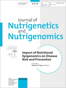 Abbildung von Ong | Impact of Nutritional Epigenomics on Disease Risk and Prevention | 2012 | Special Topic Issue: Journal o...