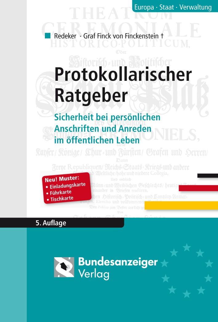 Die korrekte Anrede im öffentlichen Leben   Redeker   Buch (Cover)
