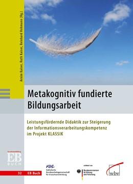 Abbildung von Hohmann / Kaiser | Metakognitiv fundierte Bildungsarbeit | 2012