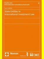 State Entities in International Investment Law | Schicho | 1. Auflage 2012, 2012 | Buch (Cover)