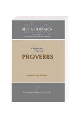 Abbildung von Biblia Hebraica Quinta (BHQ). Gesamtwerk zur Fortsetzung / Proverbs | 2008