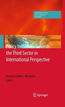 Abbildung von Gidron / Bar | Policy Initiatives Towards the Third Sector in International Perspective | 2012
