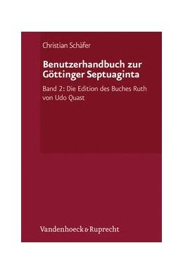 Abbildung von Schäfer   Benutzerhandbuch zur Göttinger Septuaginta   1. Auflage 2013   2012   Band 2: Die Edition des Buches...   Sonderband 002
