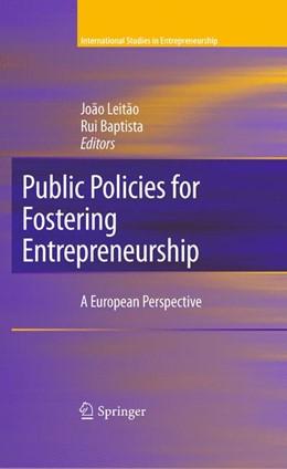 Abbildung von Leitão / Baptista | Public Policies for Fostering Entrepreneurship | 2011 | A European Perspective | 22