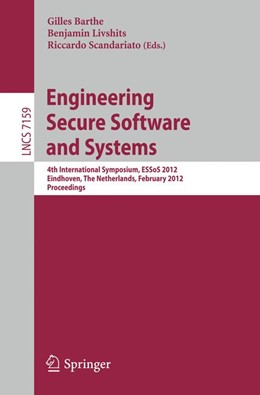 Abbildung von Barthe / Livshits / Scandariato | Engineering Secure Software and Systems | 2012 | 4th International Symposium, E...