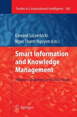 Abbildung von Szczerbicki   Smart Information and Knowledge Management   2012   Advances, Challenges, and Crit...   260