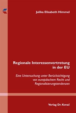 Abbildung von Himmel   Regionale Interessenvertretung in der EU   2012   Eine Untersuchung unter Berück...   276