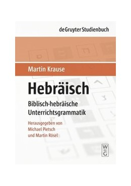 Abbildung von Krause / Pietsch / Rösel   Hebräisch   1. Auflage   2008   Biblisch-hebräische Unterricht...
