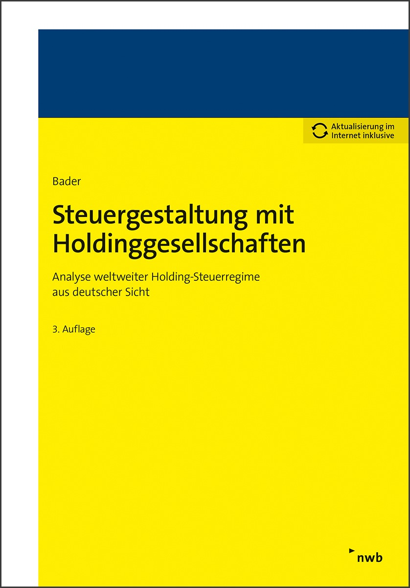 Steuergestaltung mit Holdinggesellschaften | Bader | 3. Auflage, 2017 | Buch (Cover)