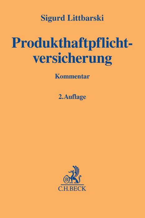 Produkthaftpflichtversicherung   Littbarski   Buch (Cover)