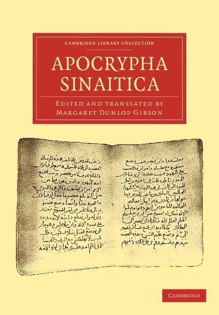 Abbildung von Apocrypha Sinaitica   2012