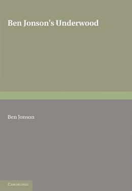Abbildung von Jonson | Ben Jonson's Underwoods | 2012