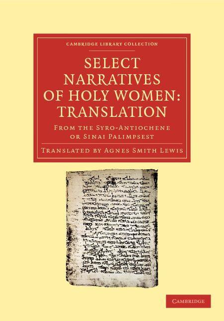 Abbildung von Select Narratives of Holy Women: Translation   2012