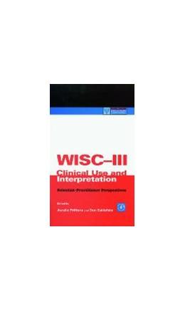 Abbildung von Prifitera / Saklofske | WISC-III Clinical Use and Interpretation | 1998 | Scientist-Practitioner Perspec...
