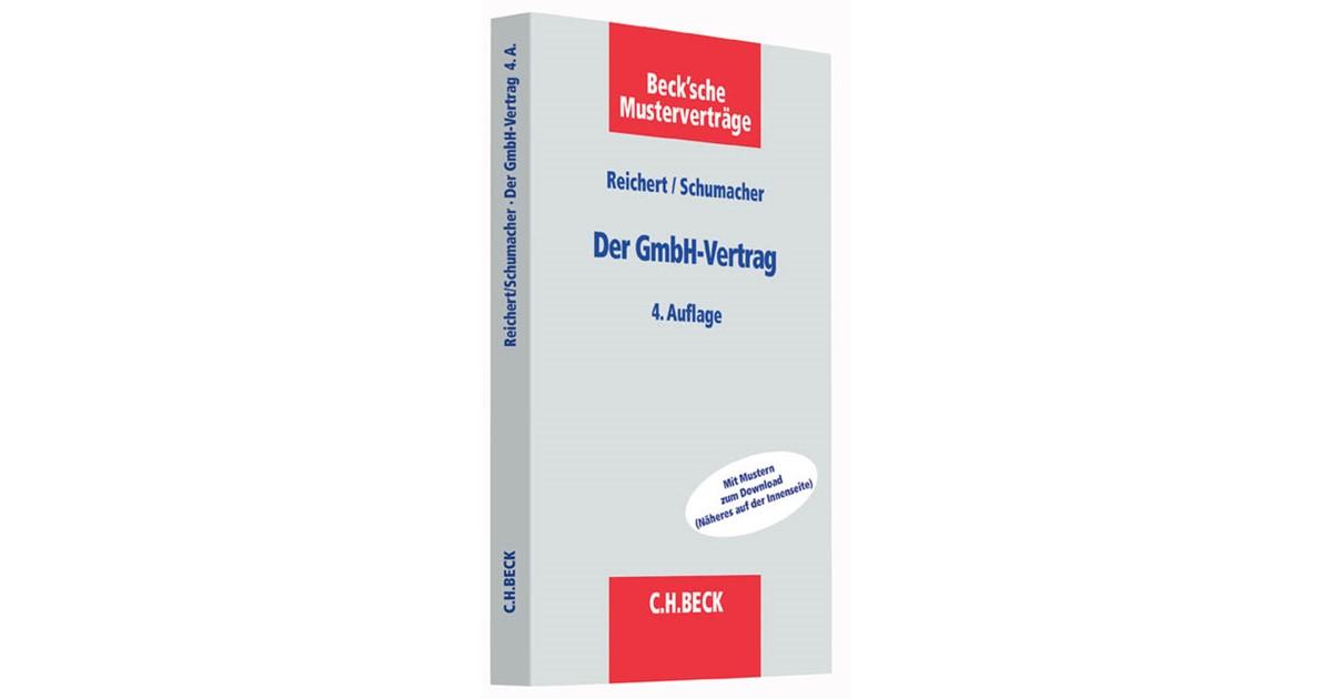 Der Gmbh Vertrag Reichert Schumacher 4 überarbeitete Auflage