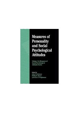 Abbildung von Robinson | Measures of Personality and Social Psychological Attitudes | 1991 | Volume 1: Measures of Social P... | 1